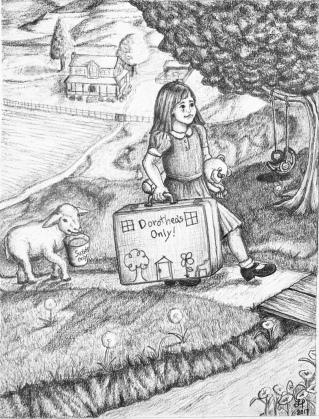 Dorothea Runs Away - 2018, Pencil on Bristol Vellum