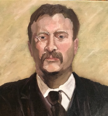 Theodore Roosevelt Study - 2018, Oil on Canvas
